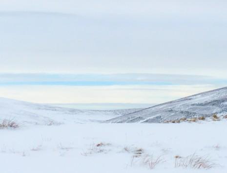 Scotland snowy hills