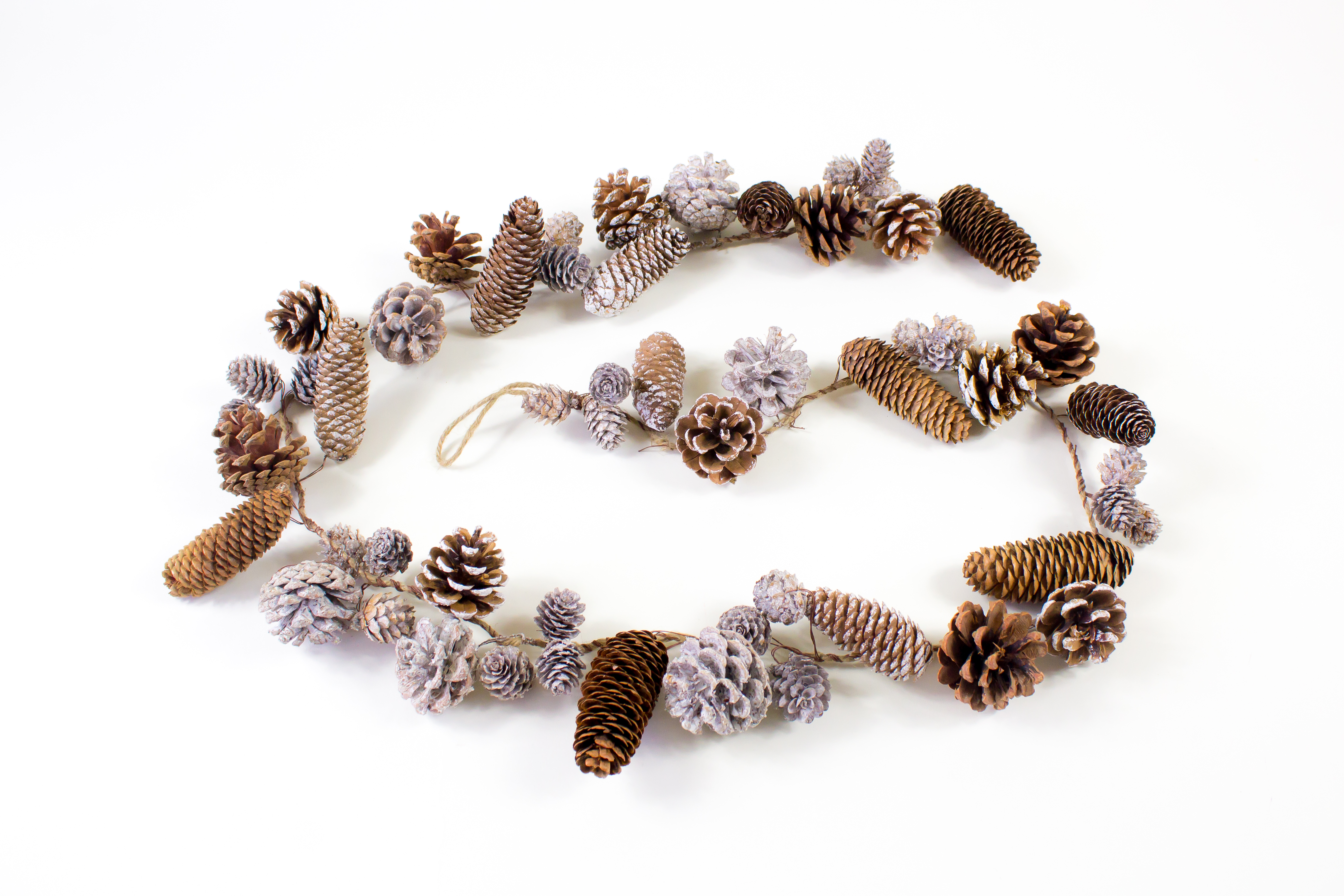christmas, decorations, pinecones, garlands
