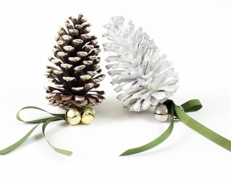 christmas, pinecones, decoration, show,