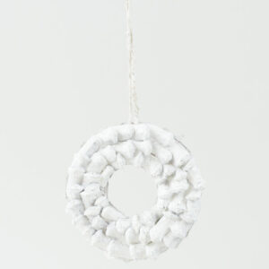 Natural Decoration Wreath White Finish