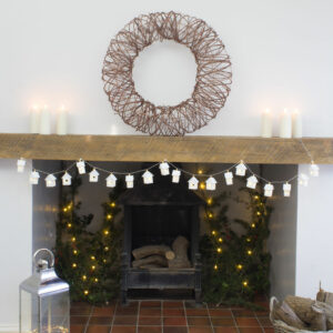 Rattan Copper Wire Look Wreath XL