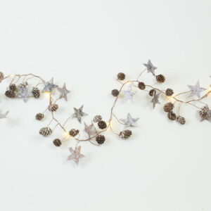 Star and Cone Wire Garland
