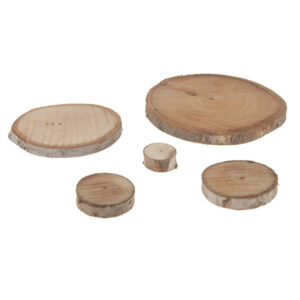 Eucalyptus wood slices 30 pieces per bag 2-8cm diameter