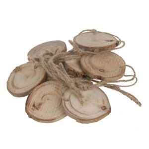 Eucalyptus wood slice decorations 12 per bag various sizes