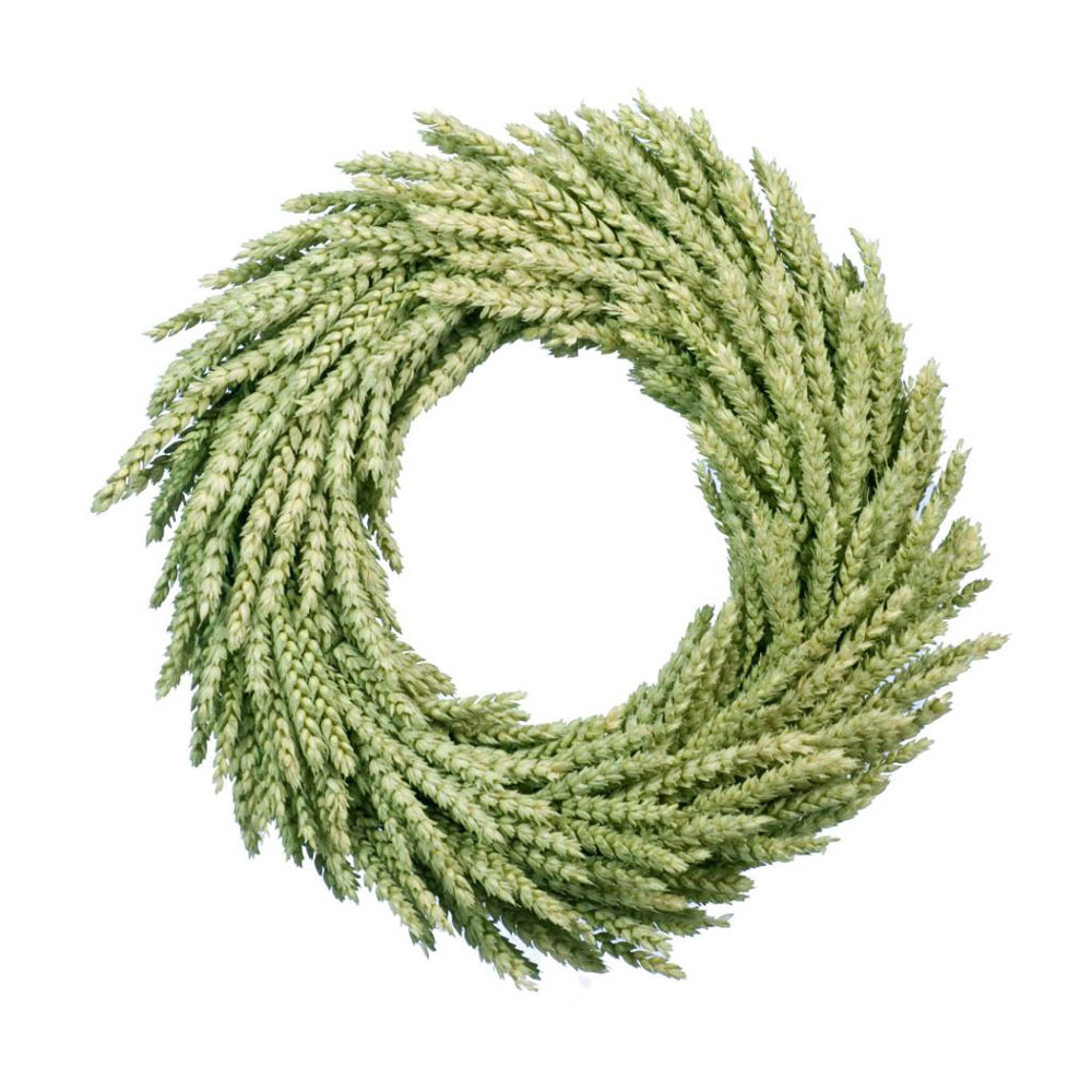 Wheat circular wreath 35cm