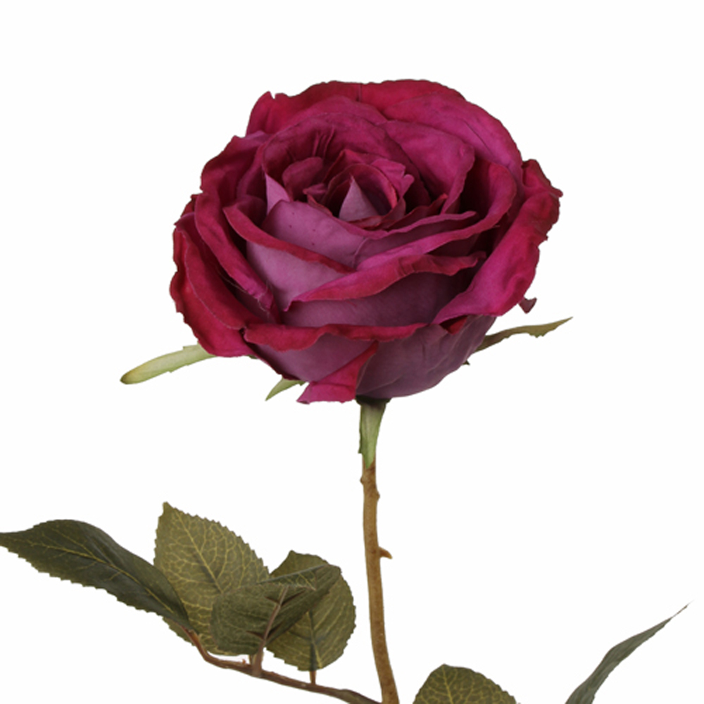 Rose Blueberry 64cm Faux Stem