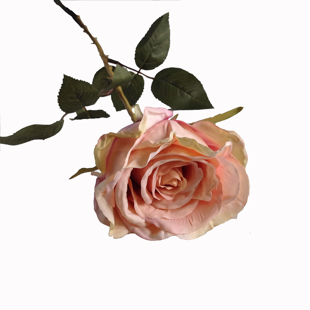 Vintage Pink Charmant Rose, Faux Stem 64cm