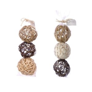 Deco Balls, Mixed, 10cm, natural