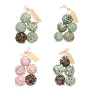 Deco Balls, Mixed, 6cm, soft nature