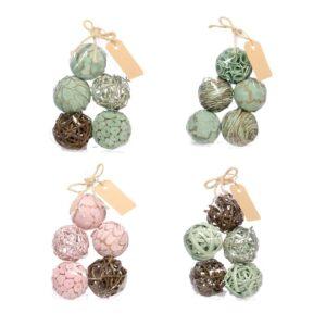 Deco Balls, Mixed, 6cm, soft nature