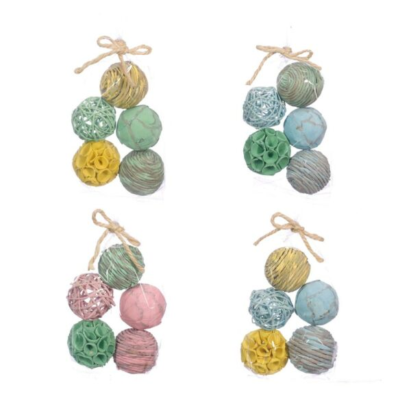 Deco Balls, Mixed, 6cm, pastel spring