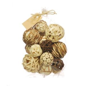 Deco Balls 30cm, mixed bag, natural
