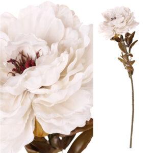 Peony vintage white flower 82cm stems