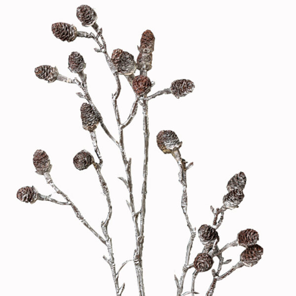 Alder cone stem whitewashed