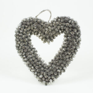 Omerica cone heart wreath in champagne decoration