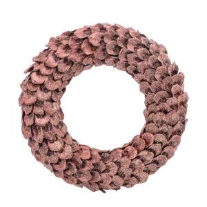Wreath, pine cone petals copper and glitter