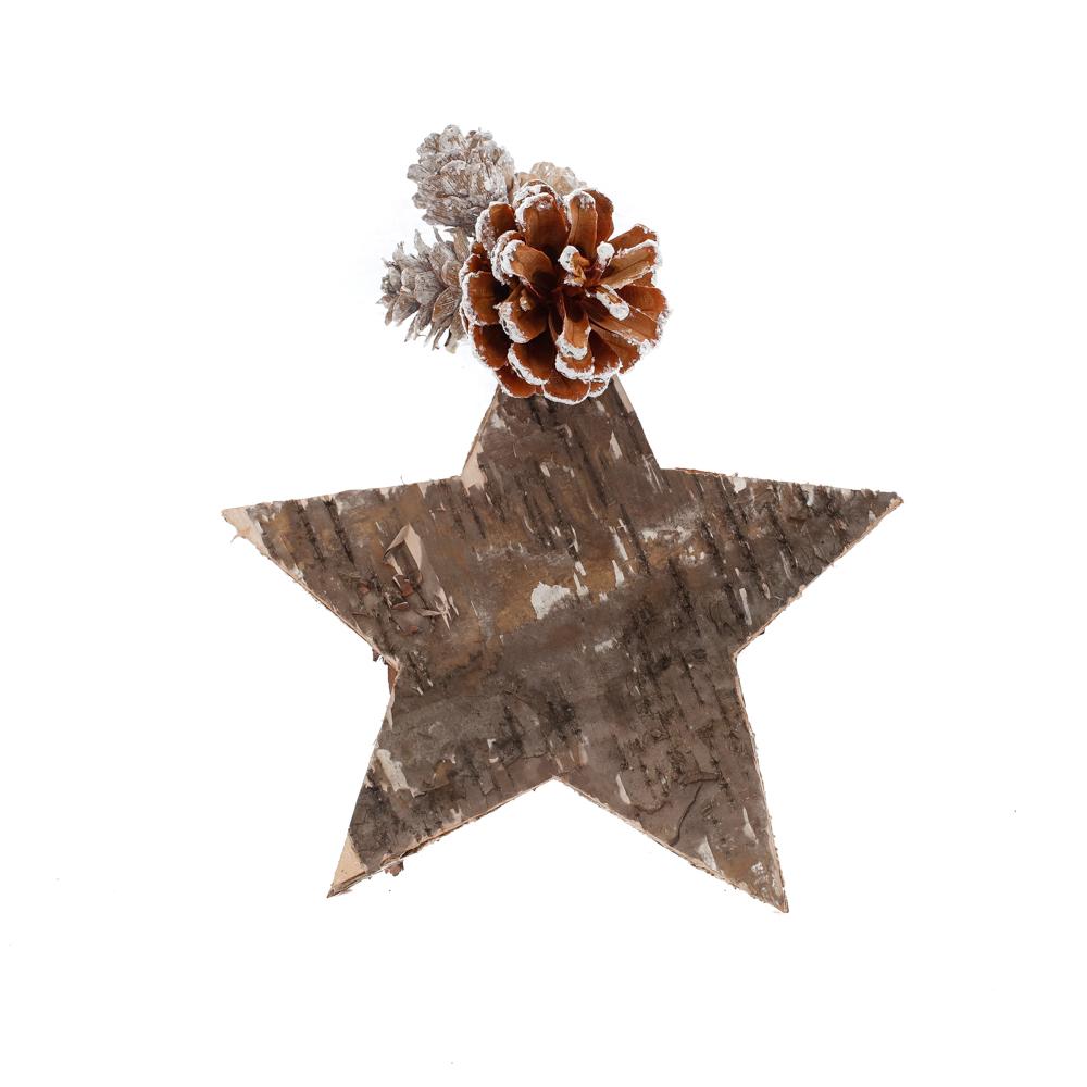 Star and cone decoration, medium