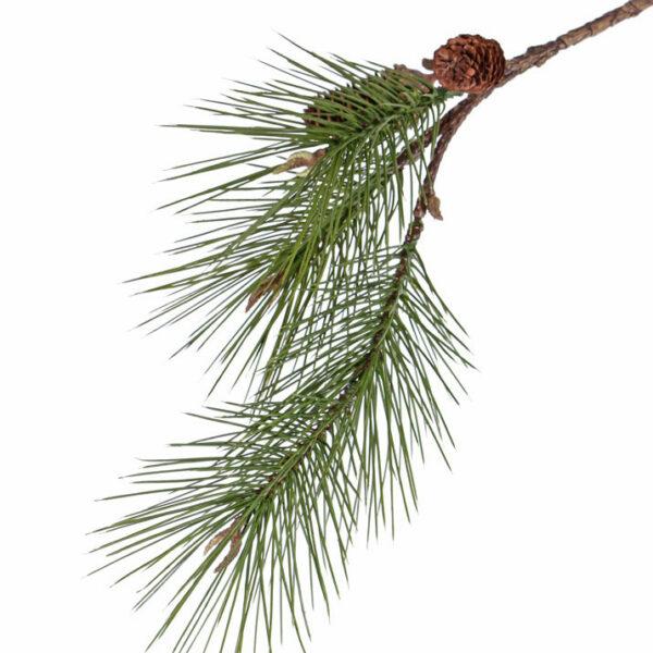Faux Pine spray, 68cm, with 2 cones,