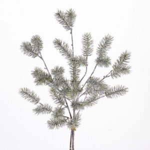 Faux Pine spray, whitewashed, 63cm