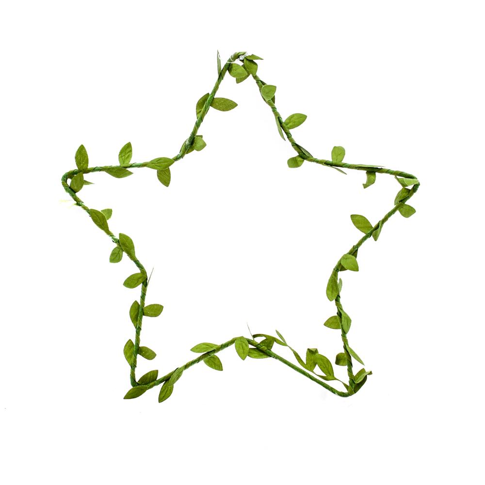 Wreath, star, silk leaf braid
