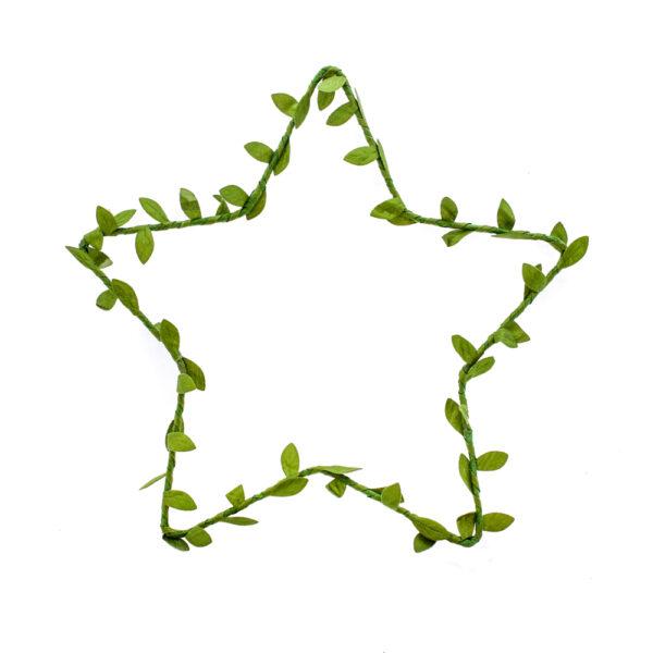 Wreath, star, silk leaf braid 30cm