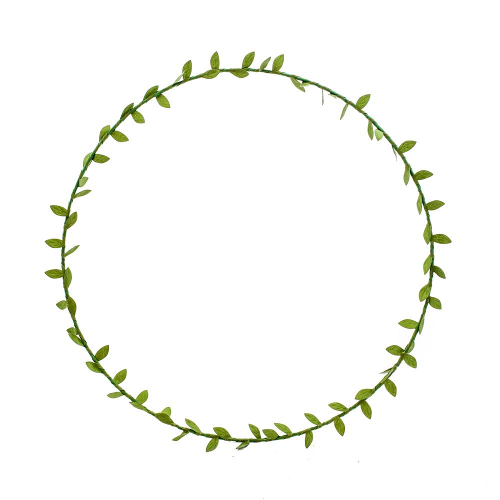 Wreath, silk leaf braid