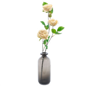 Creamy Cloud Faux Garden Rose 81cm