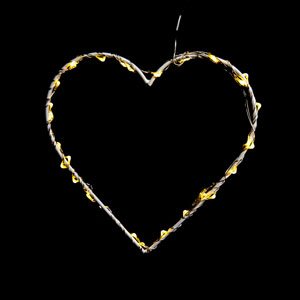 Wire Heart With LED Lights
