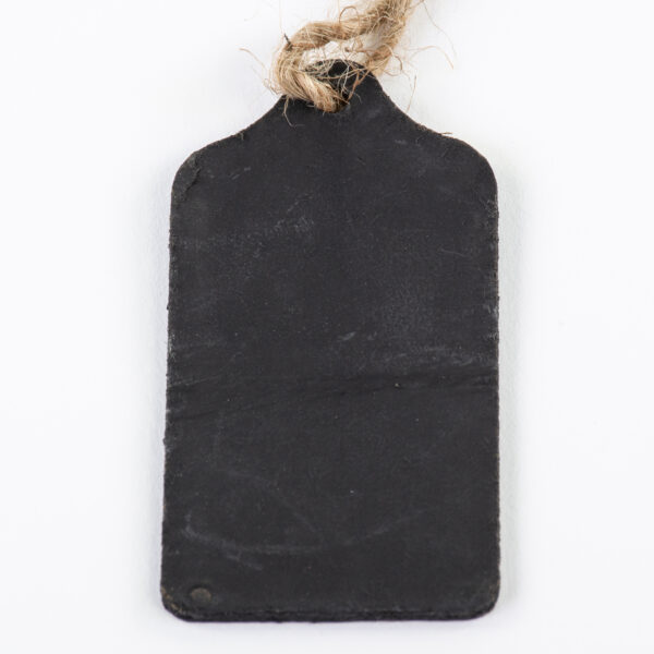 This image shows a group of 20 mini blackboard style swag tag label, laid on a white background