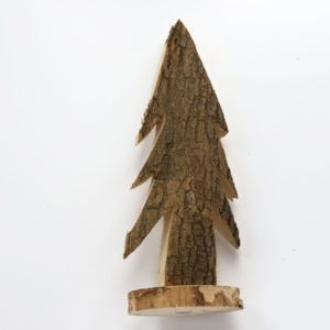 Wood Tree Natural On Base 28cm