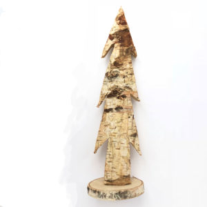 Wood Tree Natural 39cm on Wood Slice Base