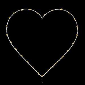 Heart LED Wreath Large