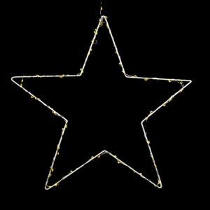 Star Wreath With LED Lights 40cm