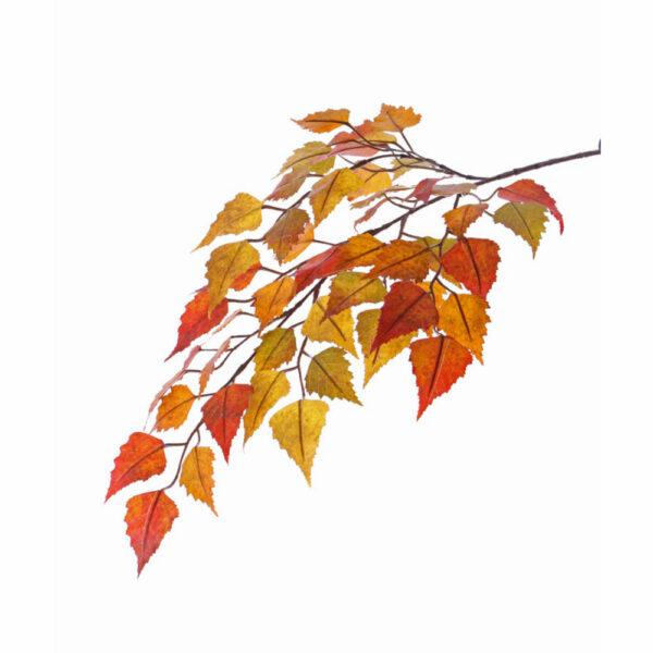 Faux Birch Spray Branch