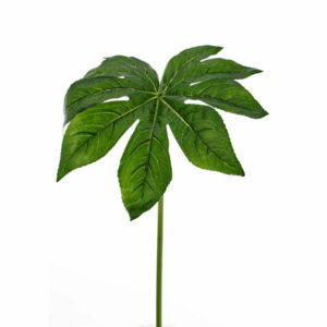 Faux Fatsia Leaf Green
