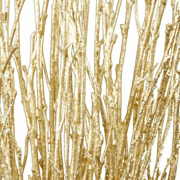 Birch, painted and glittered gold