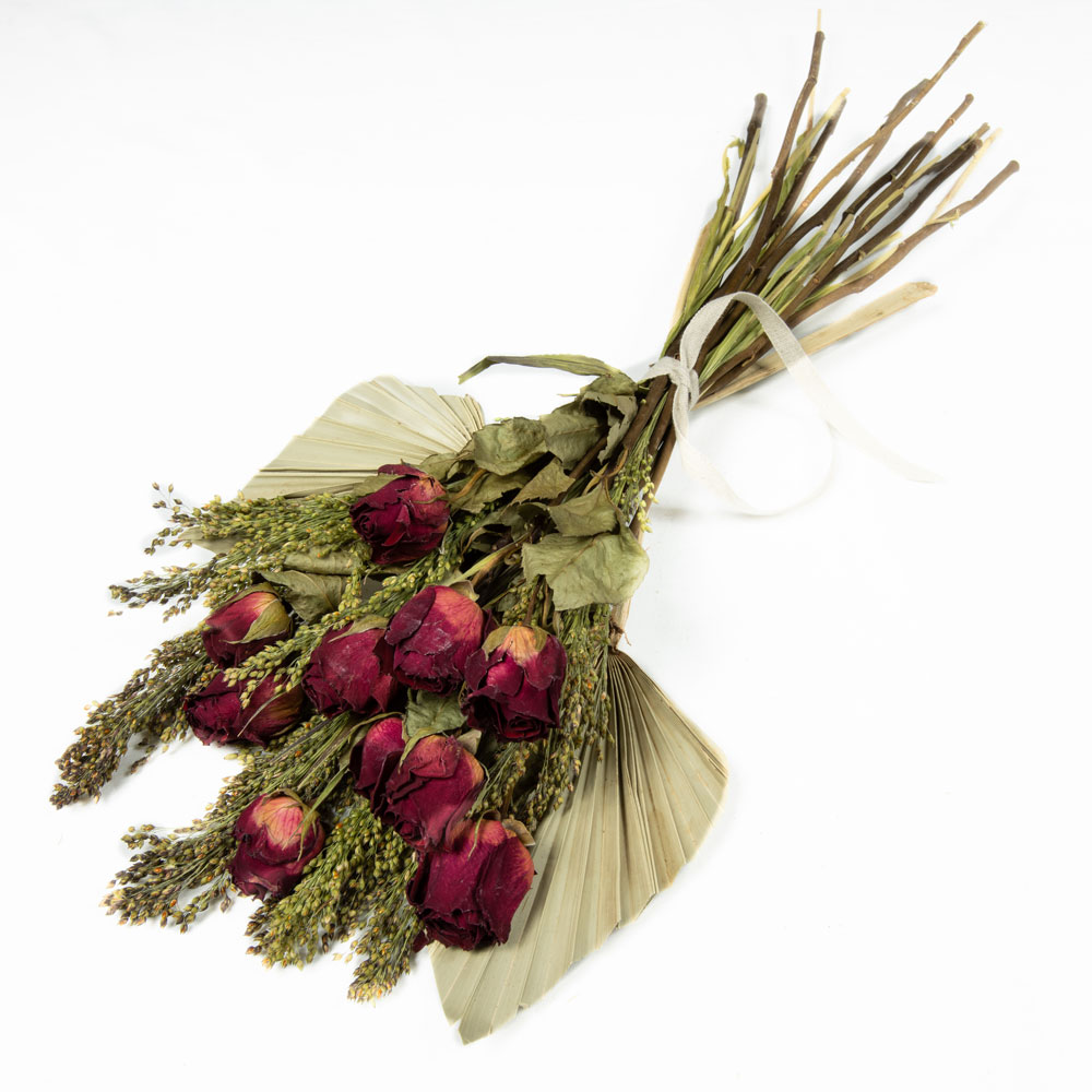 Dried-roses,-panicum-and-palm-spear