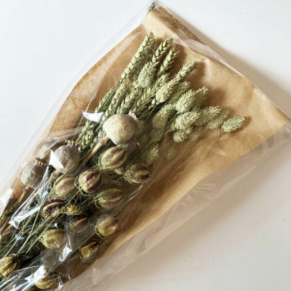 Dried Flat Bouquet, Natural