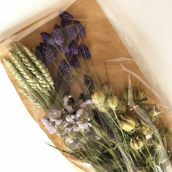 Dried Flat Bouquet, Purple