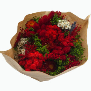 Dried Sorriso Mixed Bouquet, Red