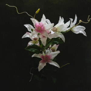 Faux Clematis Spray, light rose