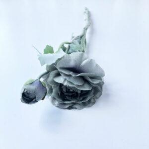 Faux Ranunculus grey