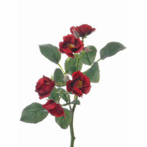 Faux Rose spray, red