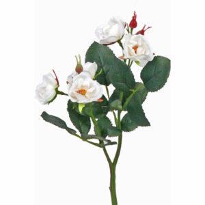 Faux Rose spray, white