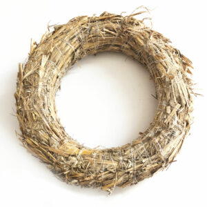 Straw Wreath, 20cm Diameter