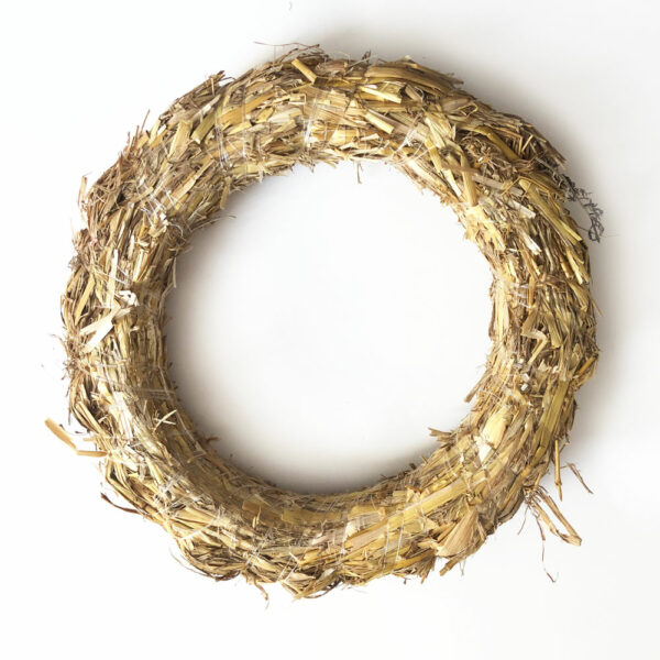 Straw Wreath, 25cm Diameter