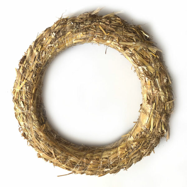 Straw Wreath, 30cm Diameter