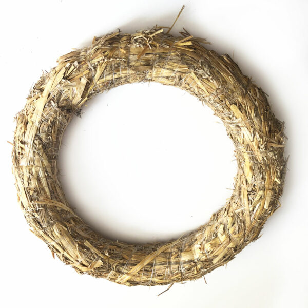 Straw Wreath, 35cm diameter