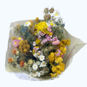 Dried flower bouquets, field flowers