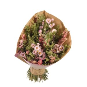 Dried flower bouquets, pink
